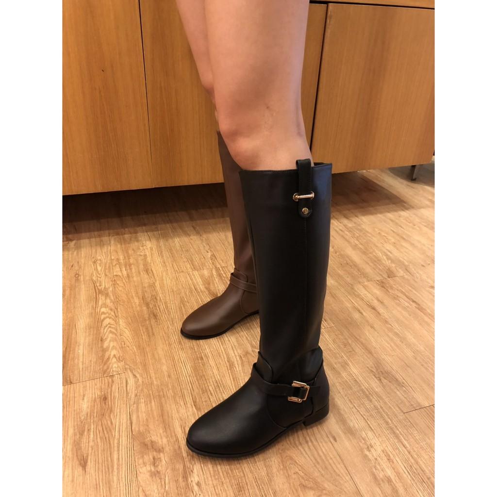 【創意者鞋坊】百搭顯瘦超質感長靴 - 黑/咖 - 女 原價2380元