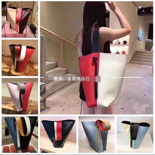 Celine女包 賽琳TWISTED CABAS拼色子母包 水桶包 手提包 精品高端拼色購物包