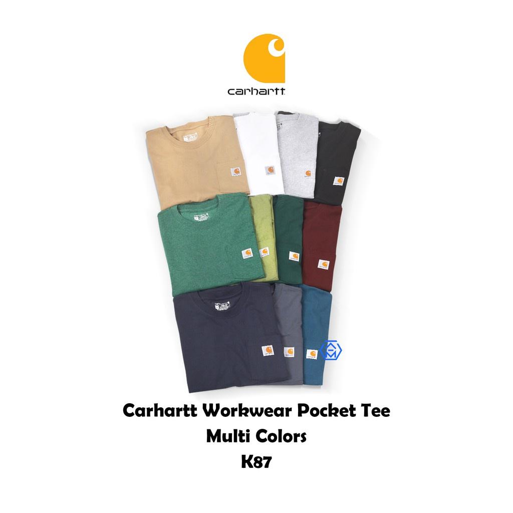 Carhartt Pocket T-Shirt K87 美版 工作 口袋 短袖 T恤 重磅 6.75oz多色 廠商直送