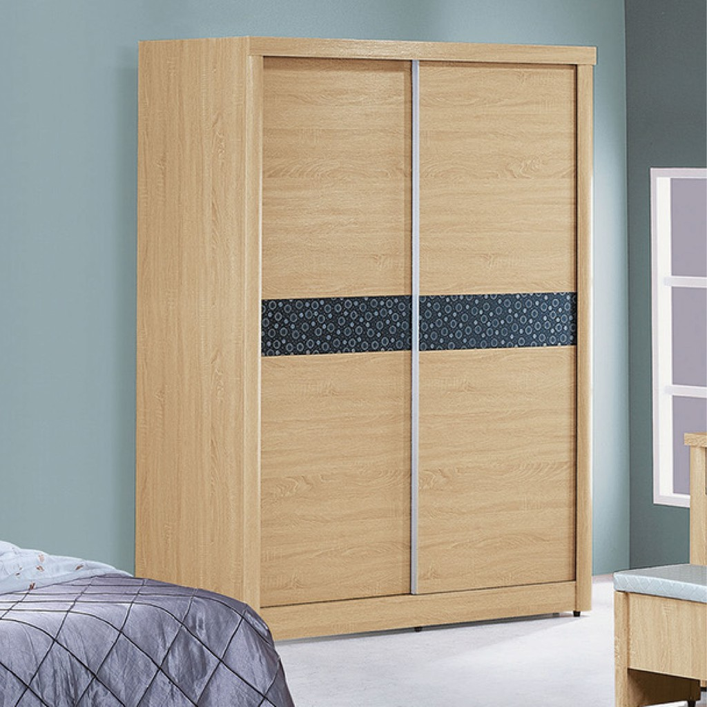 【146cm衣櫃-K16-16】木心板 推門滑門開門 衣服收納 免組裝 【金滿屋】