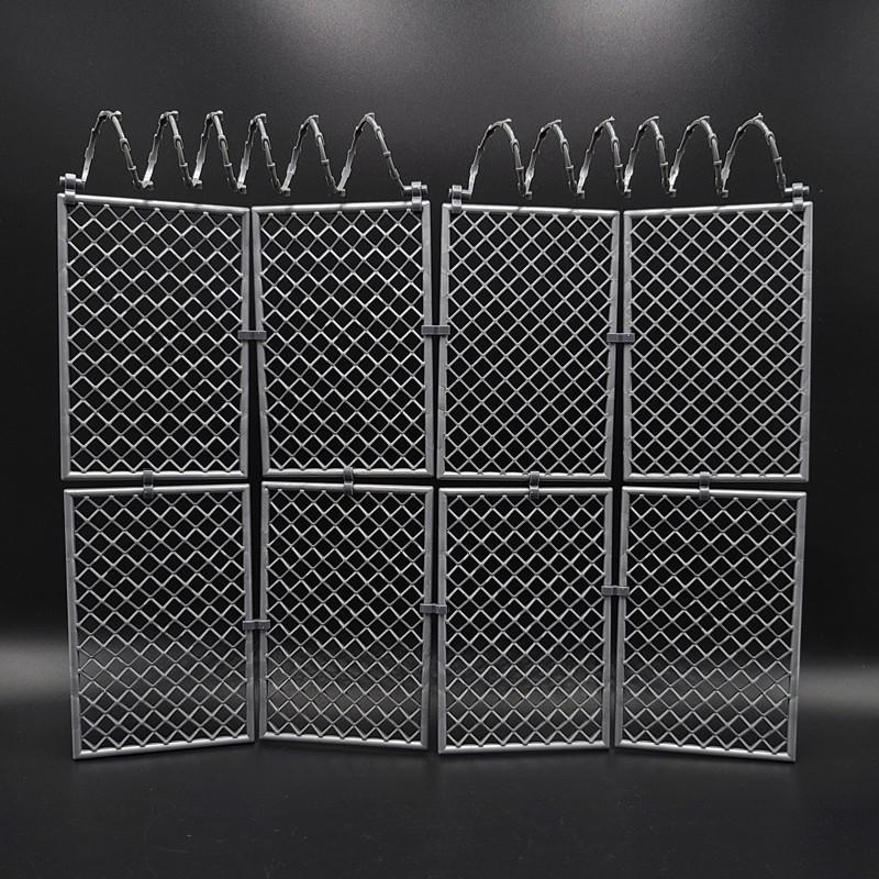 『現貨』1/12兵人場景配件figma鐵絲網圍欄shf監獄柵欄6寸dam人偶路障模型