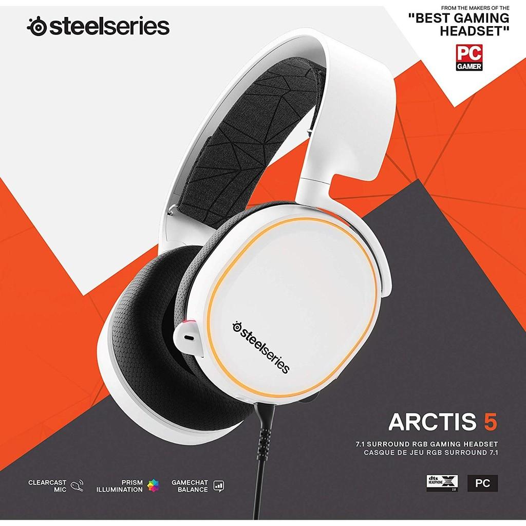9 9新 Steelseries Arctis 5 Rgb耳機麥克風 白