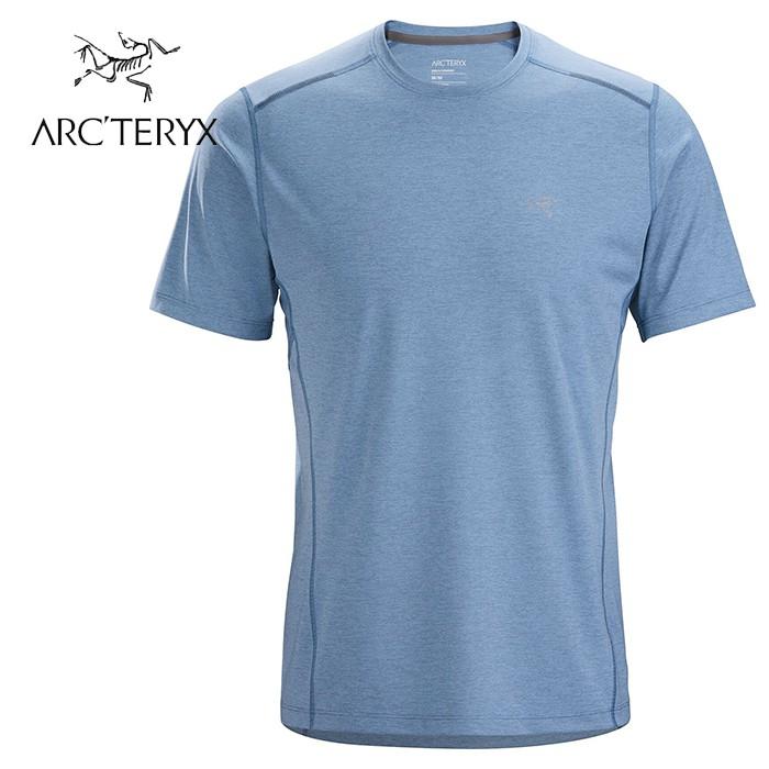 【ARCTERYX 始祖鳥 加拿大】Motus SL 短袖排汗衣 運動上衣 機能衣 男款 混濁藍 (L07582500)