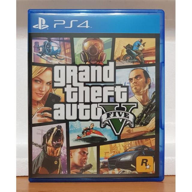 【24H發貨】全新!PS4遊戲片 GTA5 中文版 俠盜獵車手5俠盜獵車手V俠盜列車手俠道獵車手俠盜烈車手GTA V