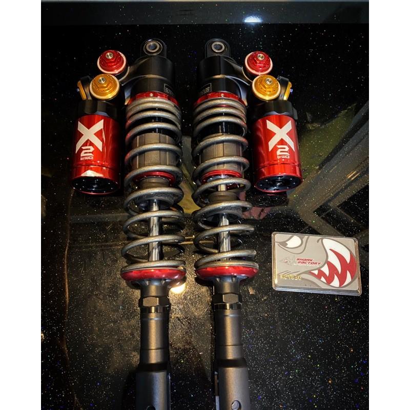 鯊魚工廠X2–ST 長度365 2020/11月送保剛回來 品項新 X2-ST 鯊魚後避震 勁戰四代 五代鯊魚後避震