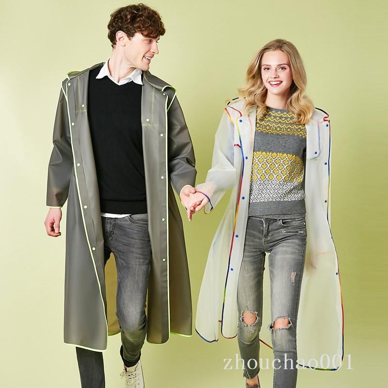 現貨 熱賣 雨衣 雨衣成人男女式長款戶外徒步登山旅游垂釣透明大帽檐防護雨衣外套