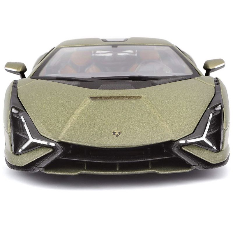 Bburago 11046 Lamborghini Sian FKP 37 綠色金屬與銅車輪 1/18 壓鑄模型車