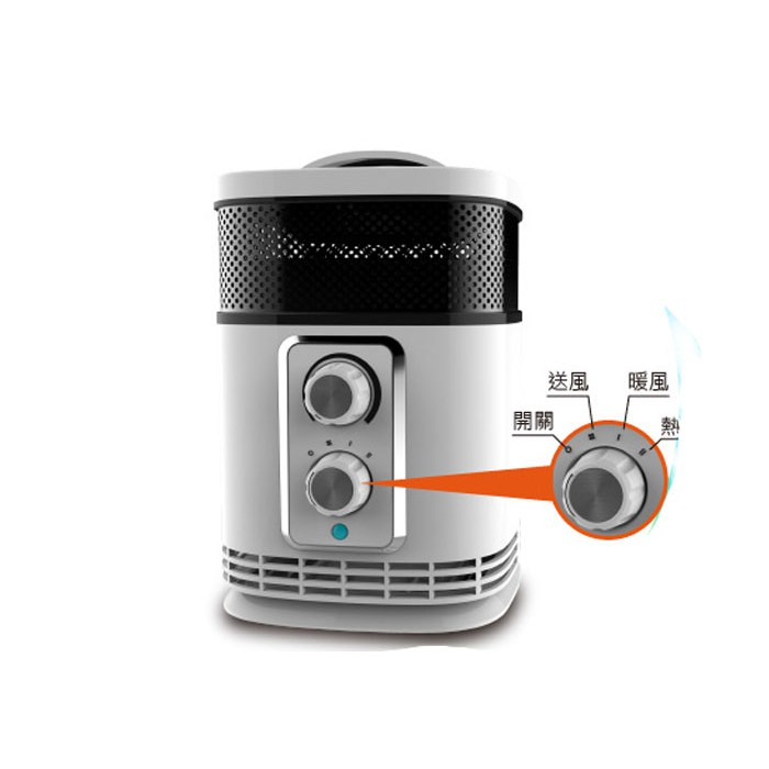【MAYLINK美菱】360°環型陶瓷溫控暖氣機/電暖器(KR-903T家用電熱扇 / 電暖爐 /保暖 /暖風機 /台灣