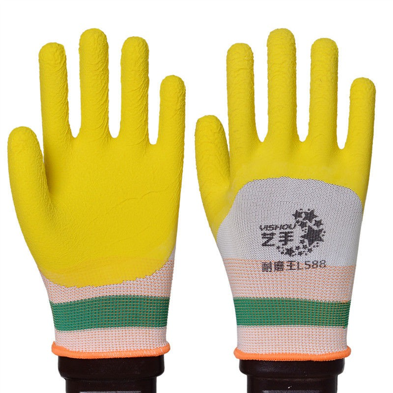 ●新品促銷●(正品手套勞保)浸膠發泡柔軟透氣防滑耐磨橡膠工作防護手套批發
