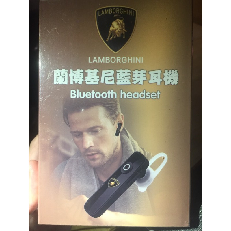 LAMBORGHINI蘭博基尼藍芽耳機Bluetooth headset