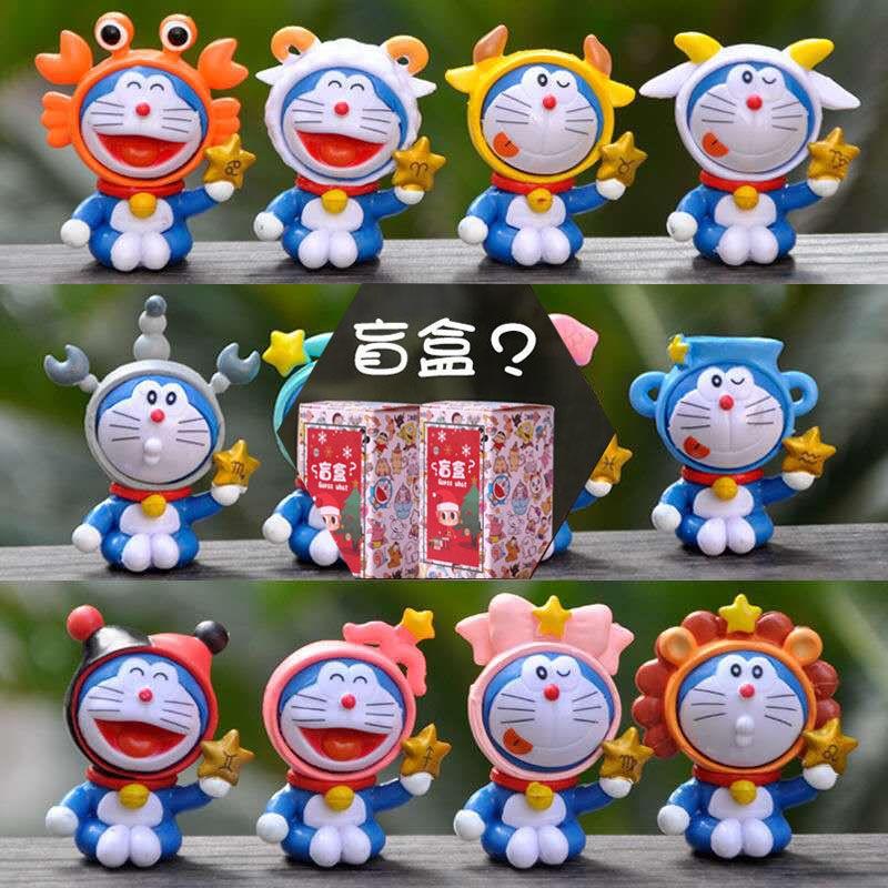 現貨 台灣出貨666哆啦A夢星座盲盒手辦動漫周邊卡通叮噹貓公仔玩具藍胖子模型擺件 多用性強 優質選材 安全呵護 無氣味