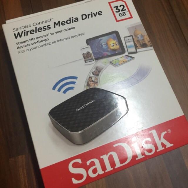 9.9成新,SanDisk Connect 無線分享儲存盒32g