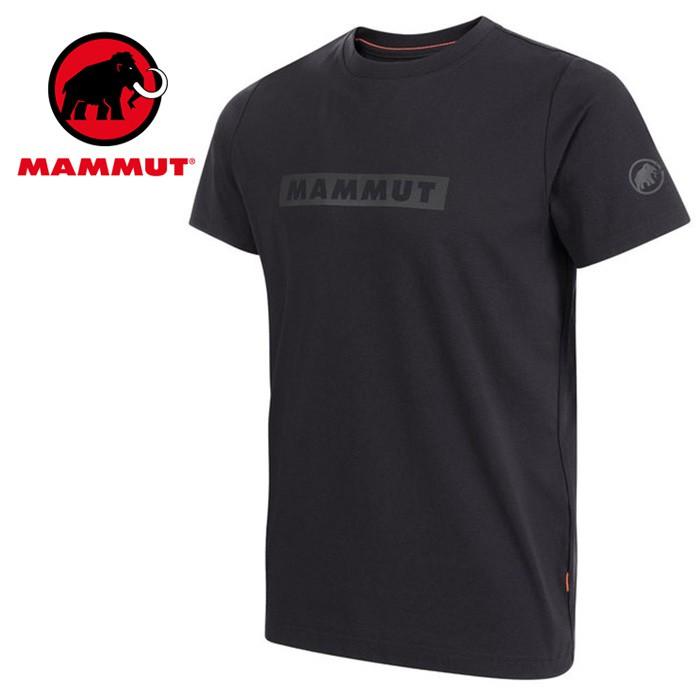 【Mammut 長毛象】QD Logo 短袖T-Shirt 短T 男款 黑色PR2 (02011-00254)