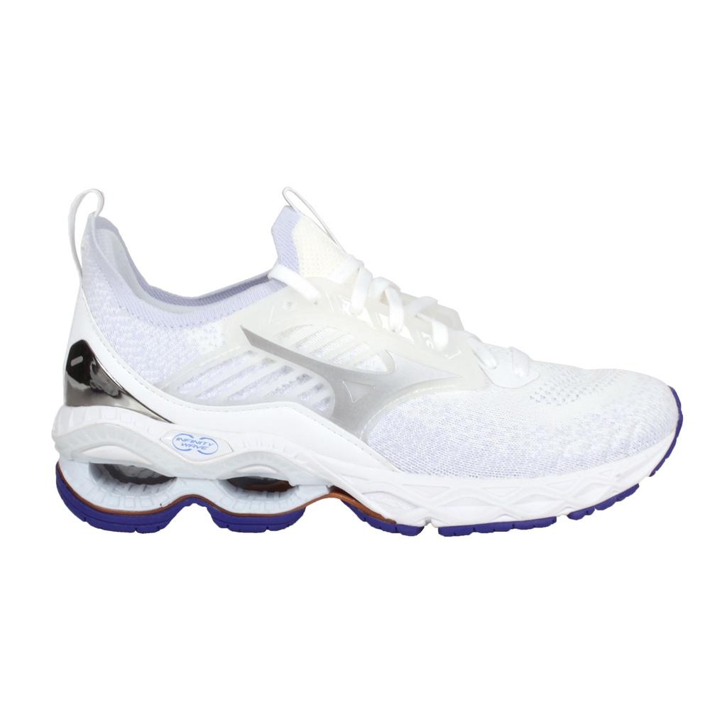 MIZUNO WAVE CREATION 22 WAVEKNIT女慢跑鞋(「J1GD213367」 白紫銀