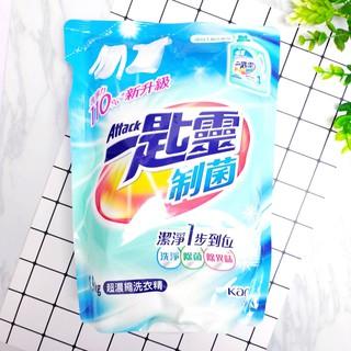 一匙靈ATTACK 抗菌EX科技潔淨洗衣精_瓶裝+補充包(3.9kg) 制菌超濃縮洗衣精補充包1.9kg 臺北市