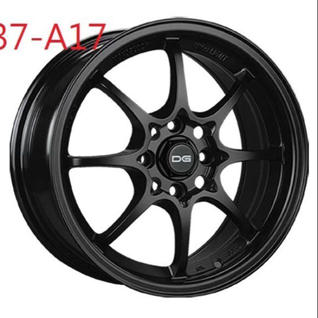 DG A17 15吋四孔100平光黑輕量鋁圈~K6K8 FIT YARIS VIOS(起標價非商品實際售價 請洽詢)