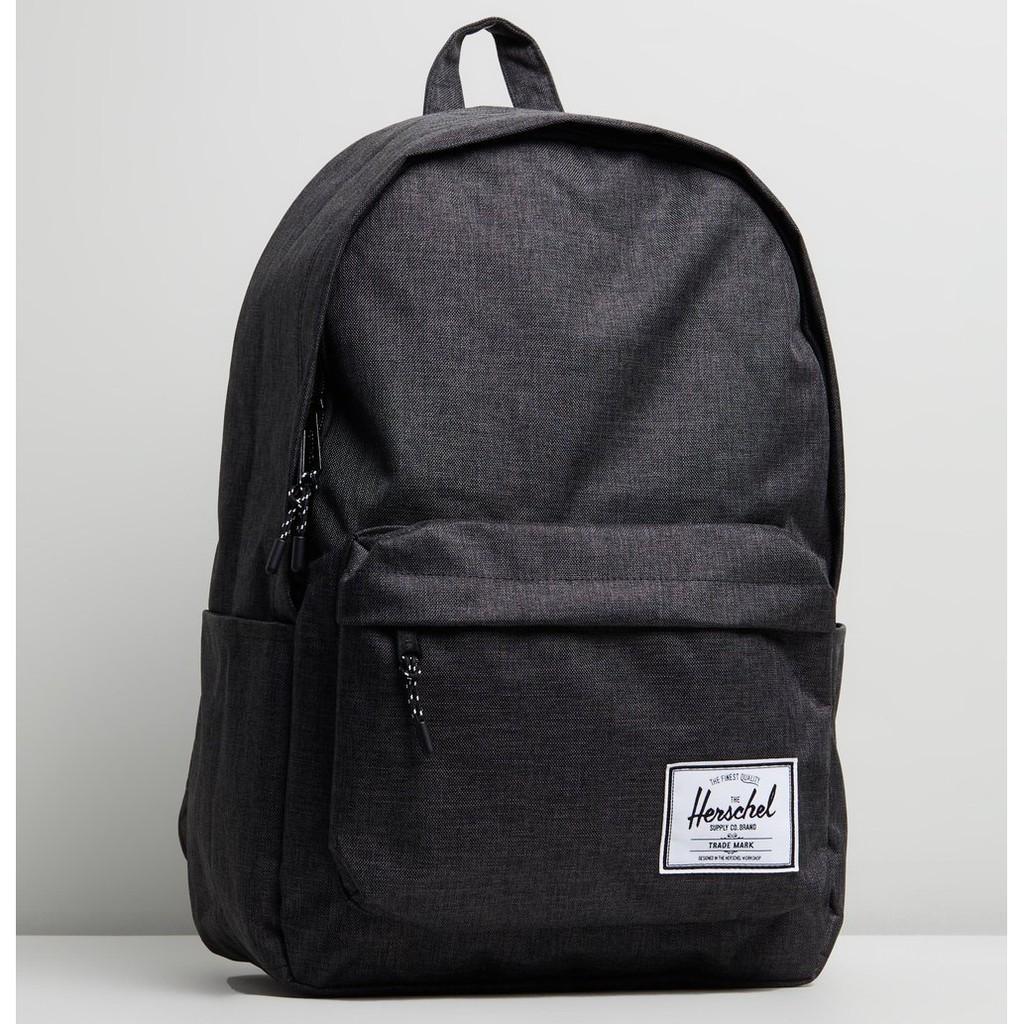 Herschel Classic XL 特大 黑色 黑混灰 帆布 防潑水 可放水壺 書包 大容量 後背包 背包 現貨