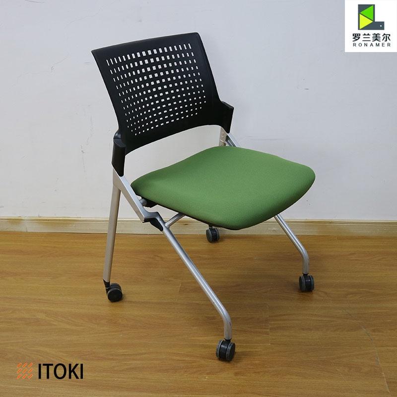日本進口Itoki 伊藤喜會議椅洽談椅接待椅折疊椅網背海綿座墊帶輪