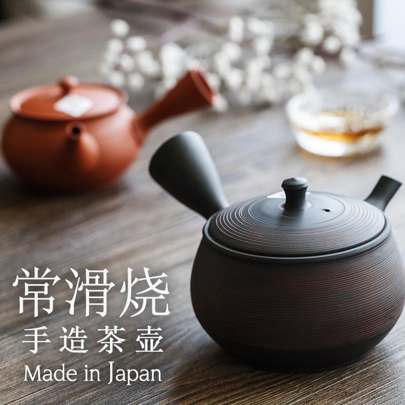 (mai)常滑燒手作茶壺 朱泥側把小壺 急須壺手拉壺