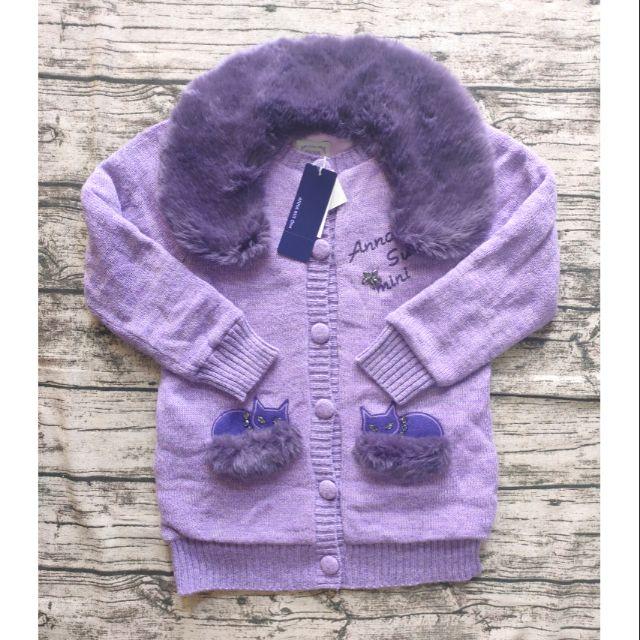 Anna sui mini 女大童刷毛針織外套L號
