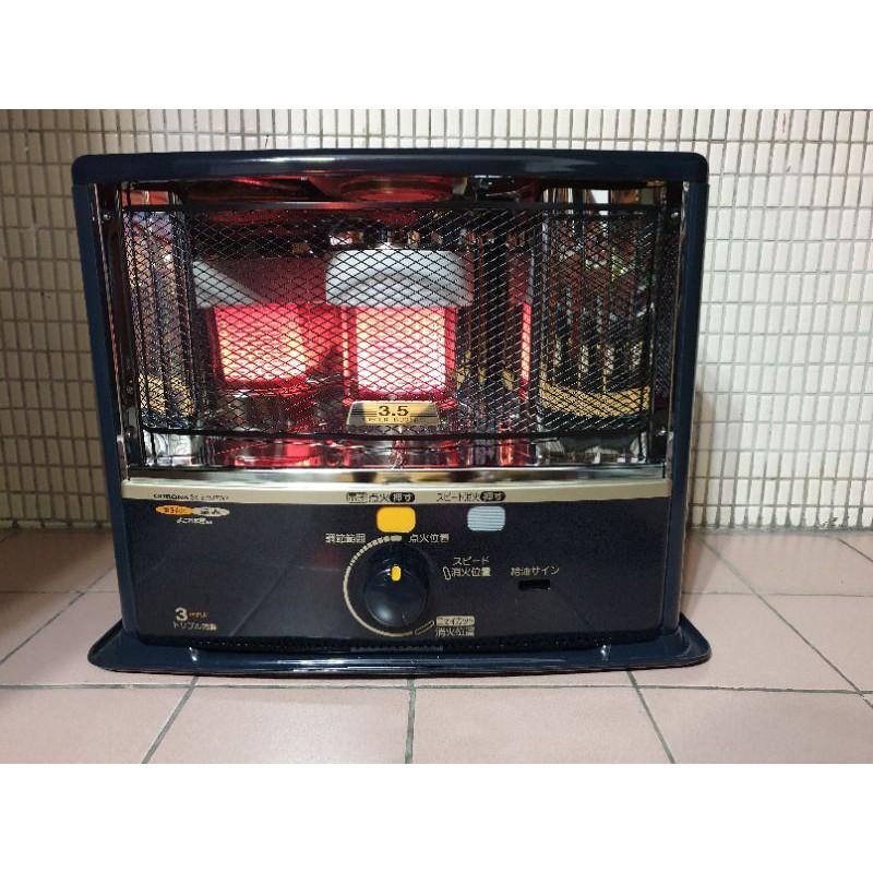 【CORONA】日本製造煤油暖爐7-9坪 煤油暖氣器 贈不沾手電動加油槍(SX-E3518WY)