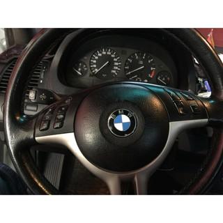 BMW 方向盤車標 45mm 黑銀卡夢 藍銀卡夢 紅銀卡夢 E36 E46E39 E60 E90 E92 F10 F30 桃園市
