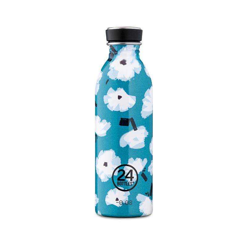 【24Bottles 城市水瓶】輕量冷水瓶 500ml/花朵雲