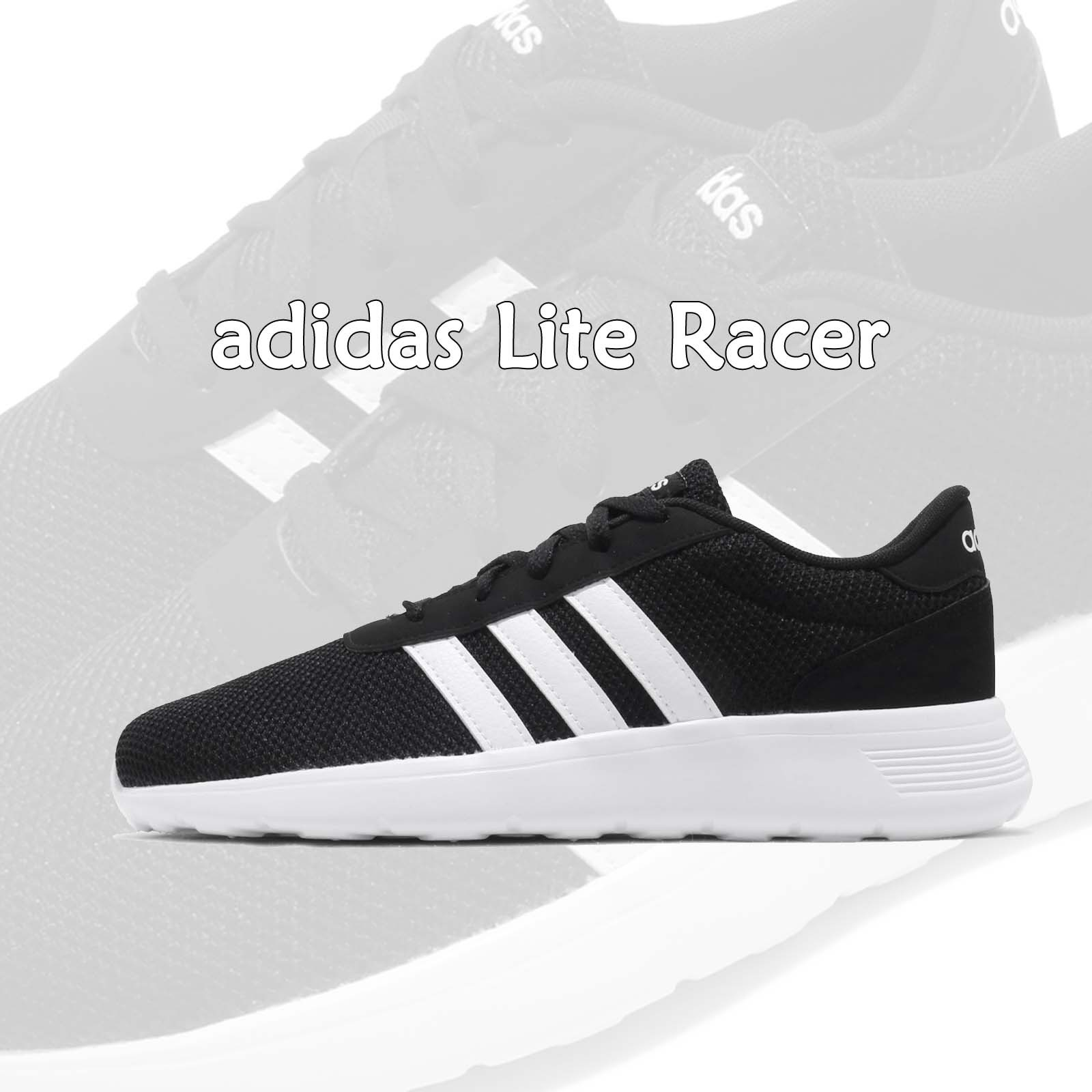 adidas 休閒鞋 Lite Racer 黑 白 三條線 男鞋 基本款 運動鞋 愛迪達【ACS】 EH1323