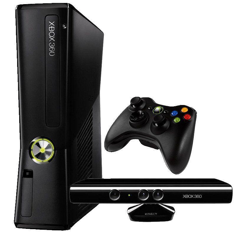 【二手主機】XBOX360 SLIM 黑色 4G 主機 同捆 KINECT 體感鏡頭 無改機【台中恐龍電玩】