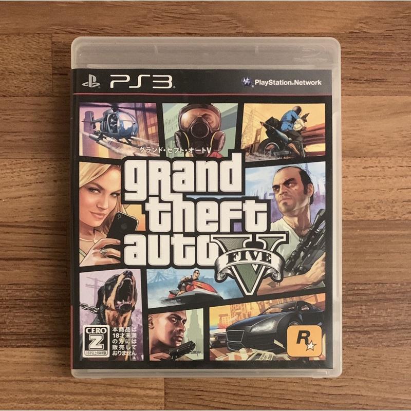 PS3 俠盜獵車手5 GTA5 俠盜獵車手V 正版遊戲片 原版光碟 日文版 純日版 日版適用 二手片 SONY