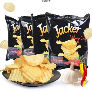 (快速出貨)Jacker杰克袋裝原切薯片 馬來西亞品牌  進口休閑膨化零食批發60g 桃園市