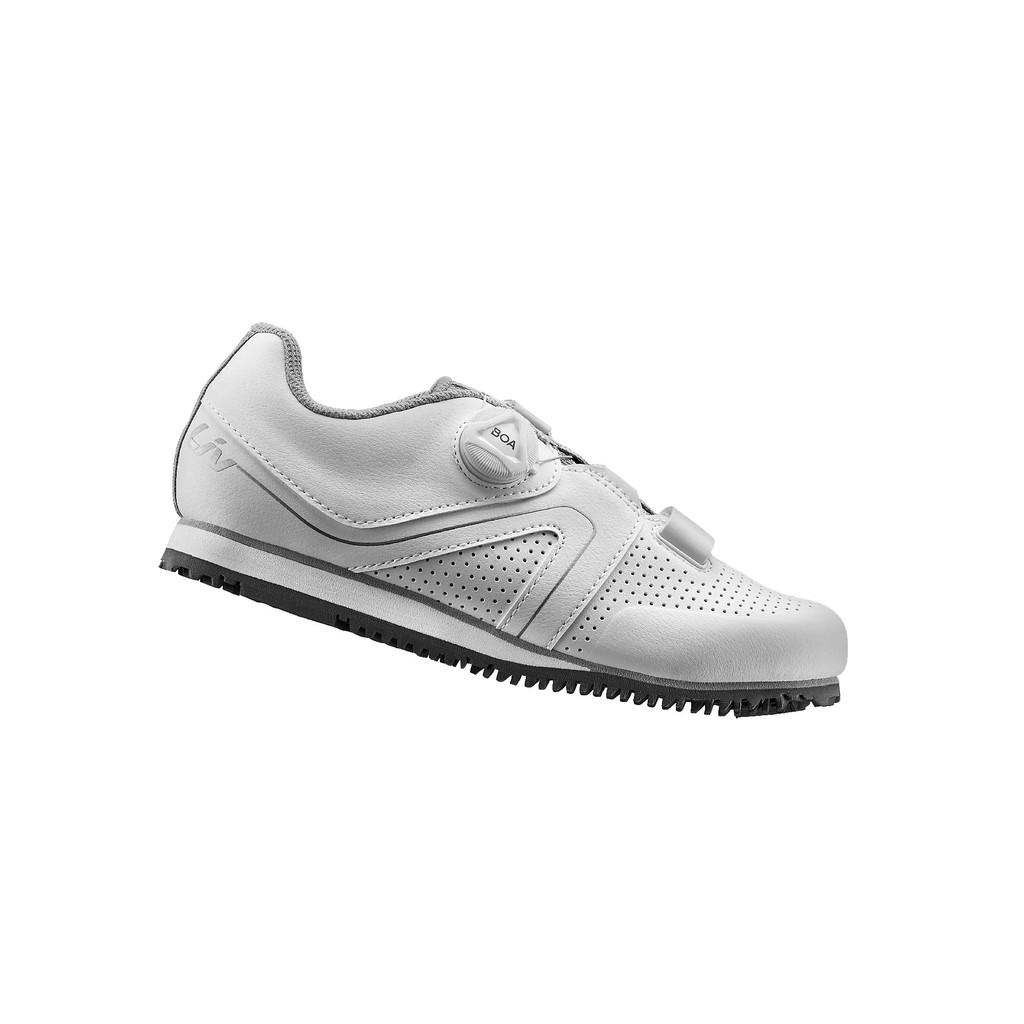 全新到貨 2021 GIANT 捷安特 Liv FAMA女性自行車專用硬底鞋(Boa旋鈕) 銀白色