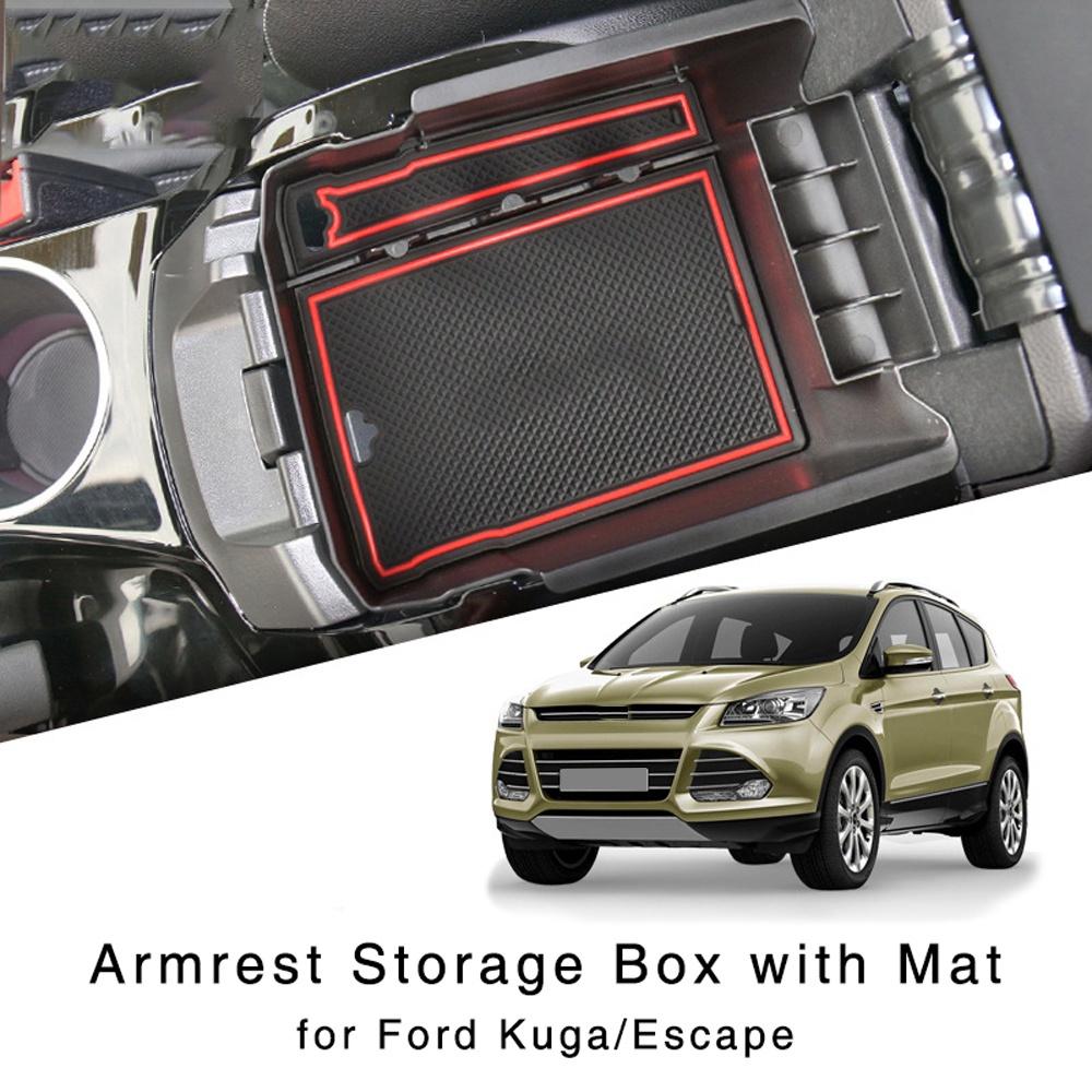 福特 Kuga Escape 2013-2015 中央內部手套托盤的扶手儲物盒