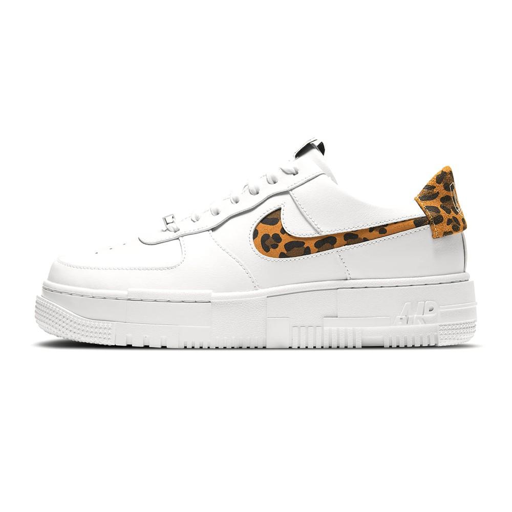 NIKE 女 休閒鞋 AF1 PIXEL SE CV8481100 (202101) 白 豹紋 皮革 AF1 解構 像素