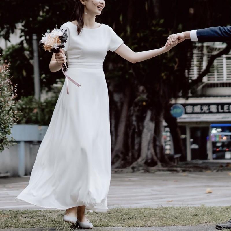 二手-Caspia Lili-輕婚紗 8成新 - Rose (L)