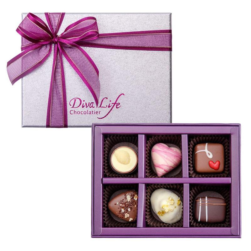 【Diva Life】經典6入巧克力禮盒