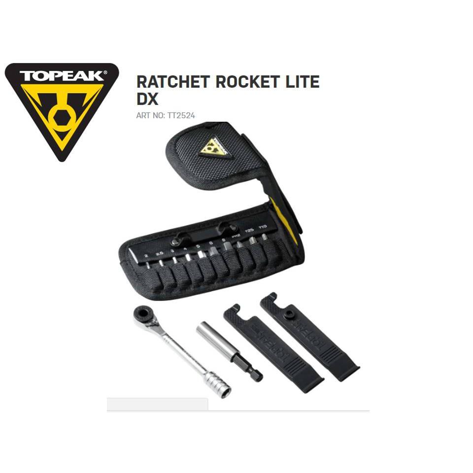 TOPEAK 自行車修車工具 隨身型15功能 棘輪工具組 Ratchet Rocket Lite DX TT2524