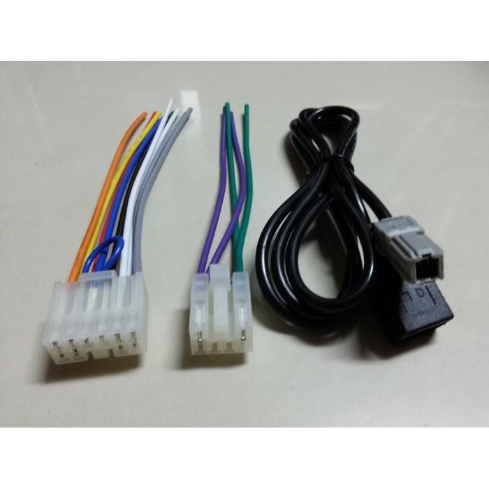 豐田TOYOTA-CAMRY,VIOS,ALTIS,RAV4,WISH,YARIS原廠音響主機專用電源線組USB