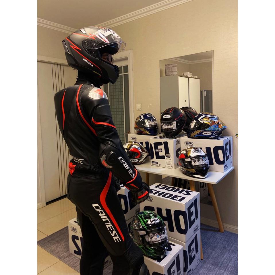 ✴♗☃SHOEI X14本田聯名紅螞蟻招財貓柳川明紅白螞蟻摩托車安全帽頭盔