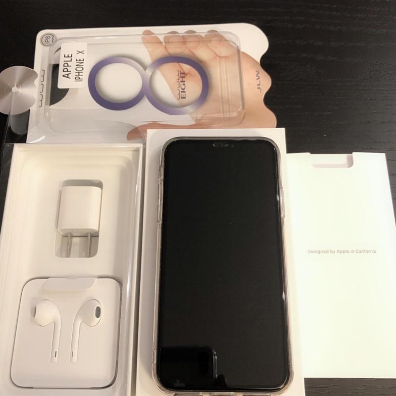 iPhone X 256g盡全新機 包膜 玻璃殼 原廠盒裝完整