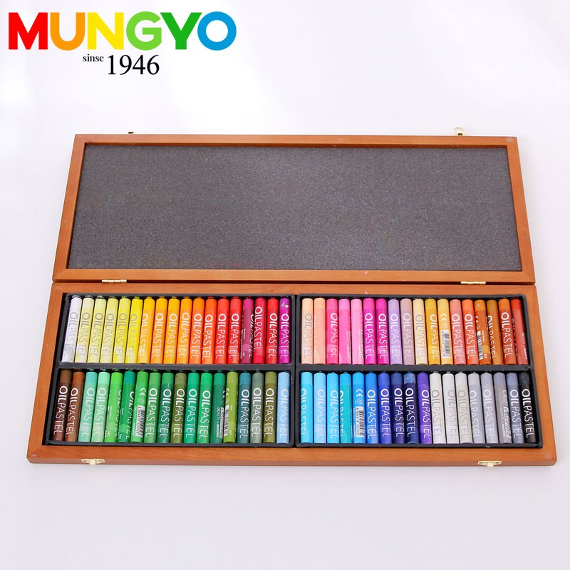 、兒童油畫筆、水彩筆❧✟❡韓國MUNGYO MOP-72色精制木盒油畫棒 盟友學生油畫棒