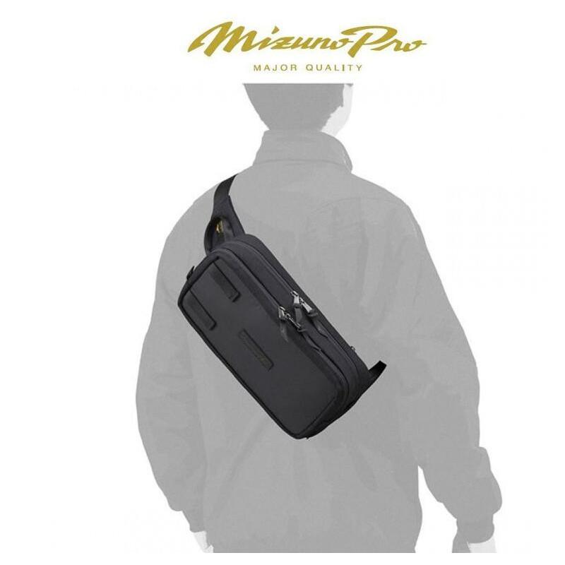 日本原裝進口~美津濃 MIZUNO PRO 軍規防水CORDURA布料 運動胸包 單肩背包 腰包(1FJD140309)