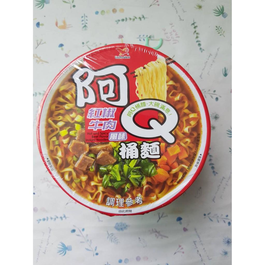 阿Q桶麵紅椒牛肉風味101G(效期:2021年4月16號)市價35元特價32元