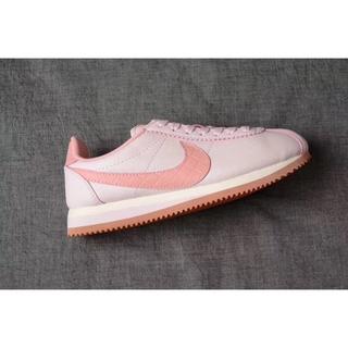 Nike慢跑鞋 公司貨 CLASSIC CORTEZ LEATHER LUX阿甘淡粉 皮面 女神粉 經典跑鞋 復古