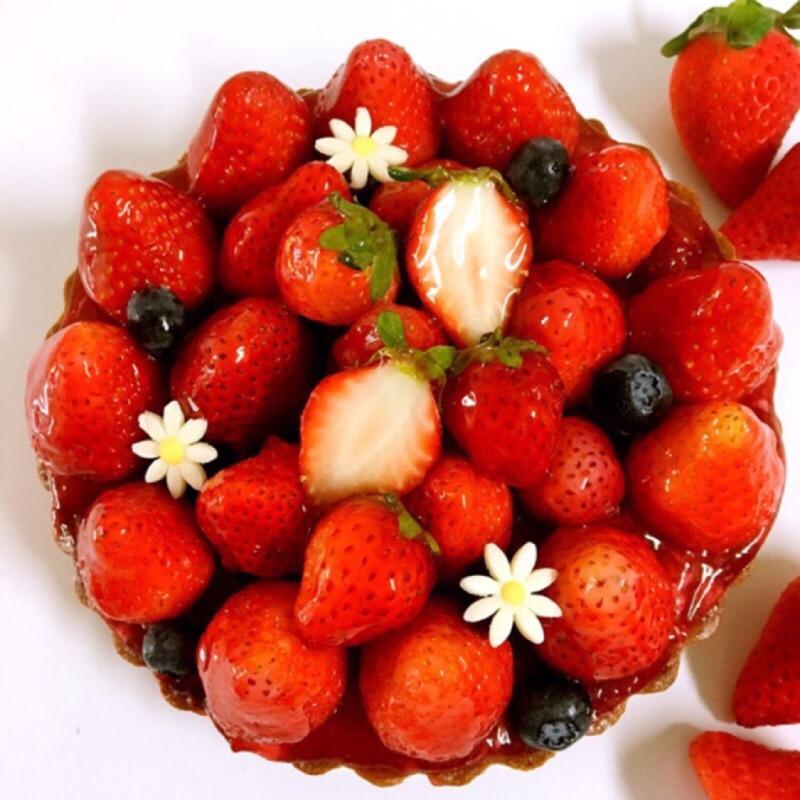【紅鞋女孩】新鮮草莓乳酪手工塔|6吋