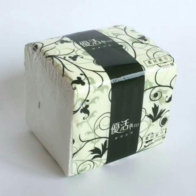 (24包) LiVi優活柔拭紙巾、抽取式衛生紙300抽