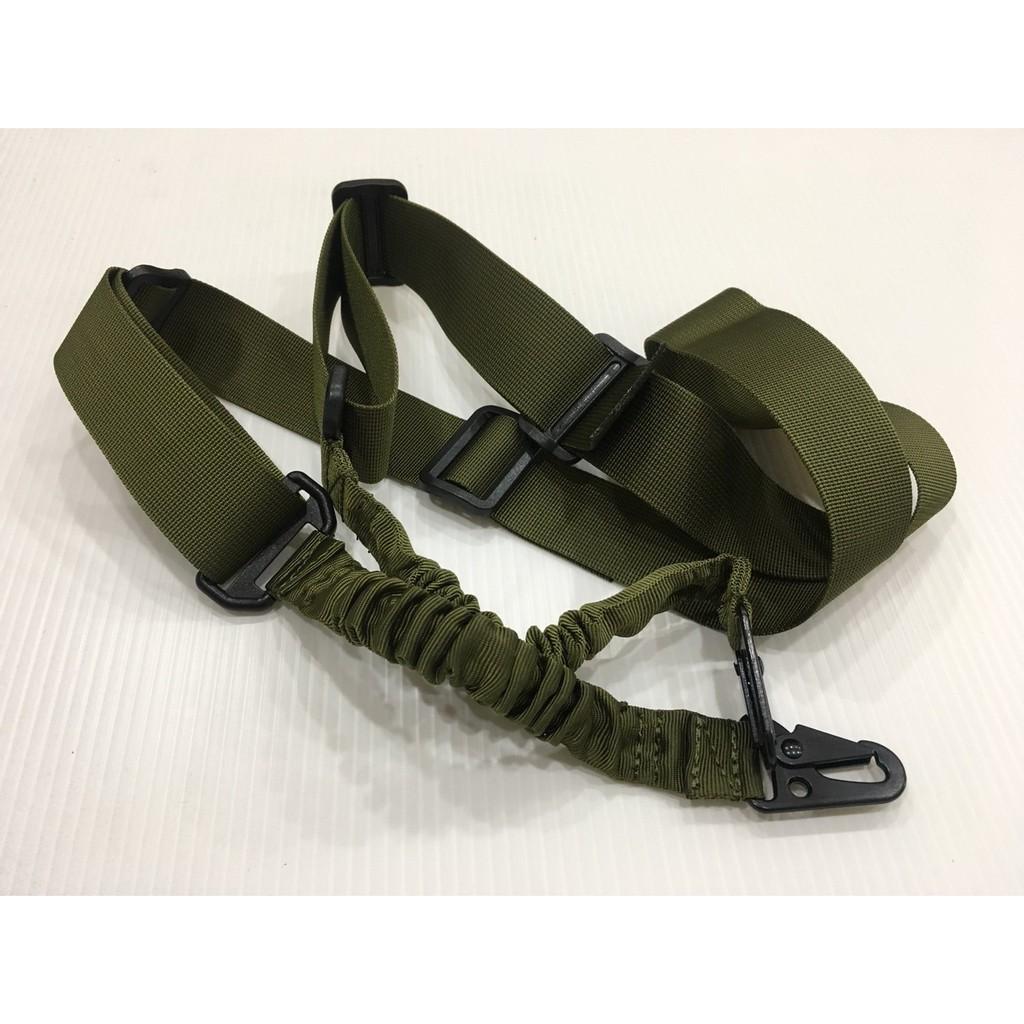 2點 加厚 槍背帶 雙點 背帶 槍帶 槍繩 雙槍繩  玩具 BB彈 CO2 手拉 空氣 綠色 OD 彈簧繩
