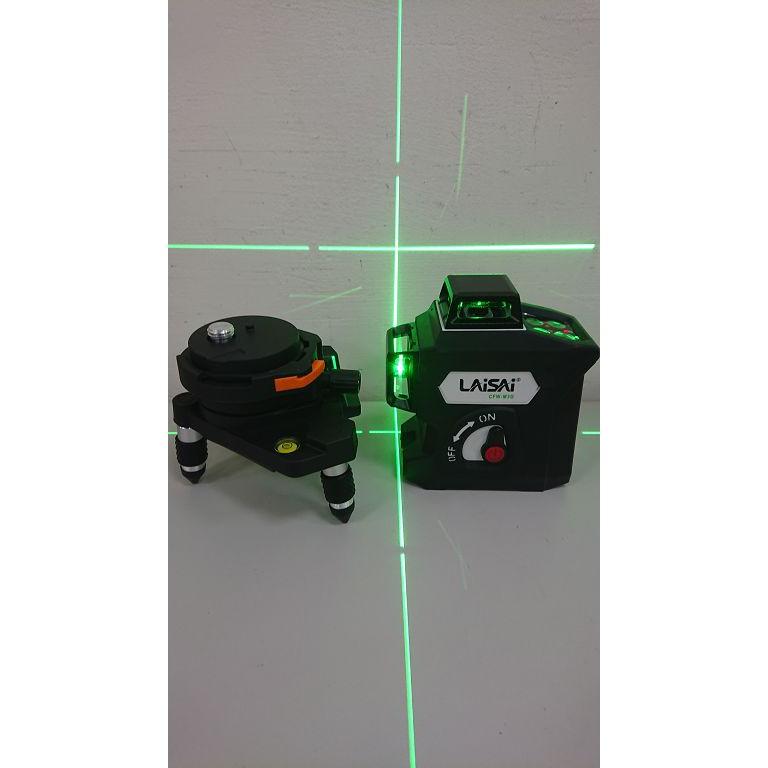 ☆捷成儀器☆LAISAI CFW-M3G綠光 雷射水平儀墨線雷射儀 4垂直4水平貼壁泥作磨基LAISAI CFW-M2G