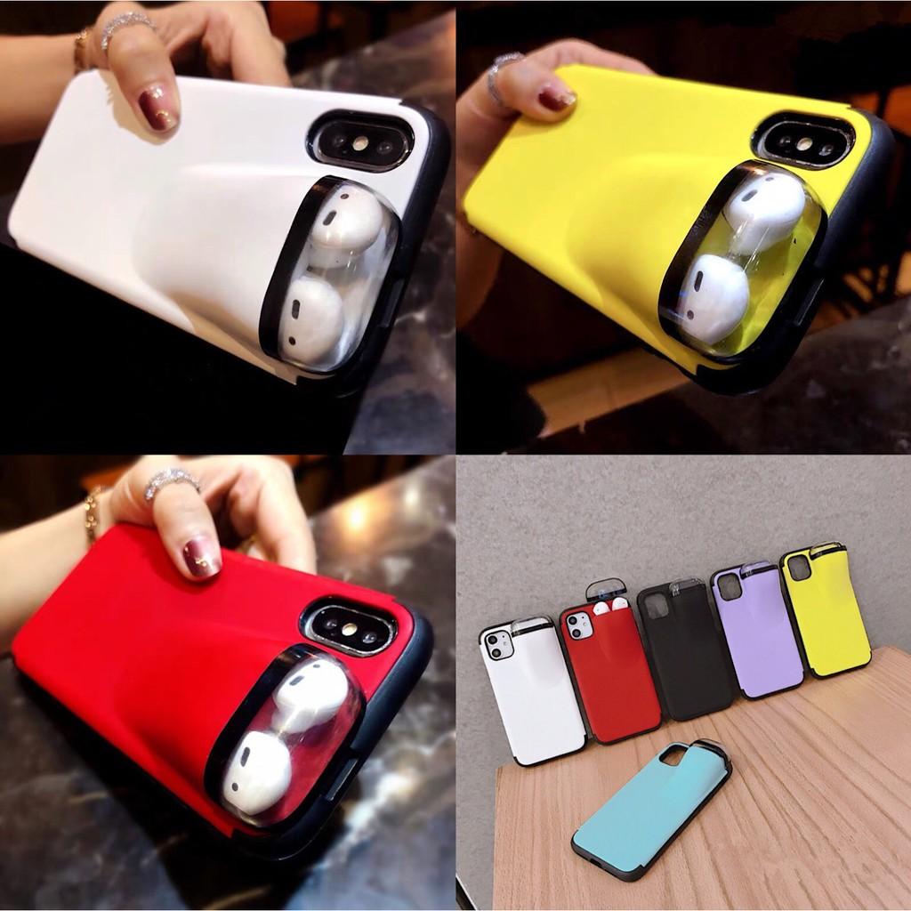 適用airPods2保護套耳機蘋果11Pro Max手機殼iPhone78P一體手機殼