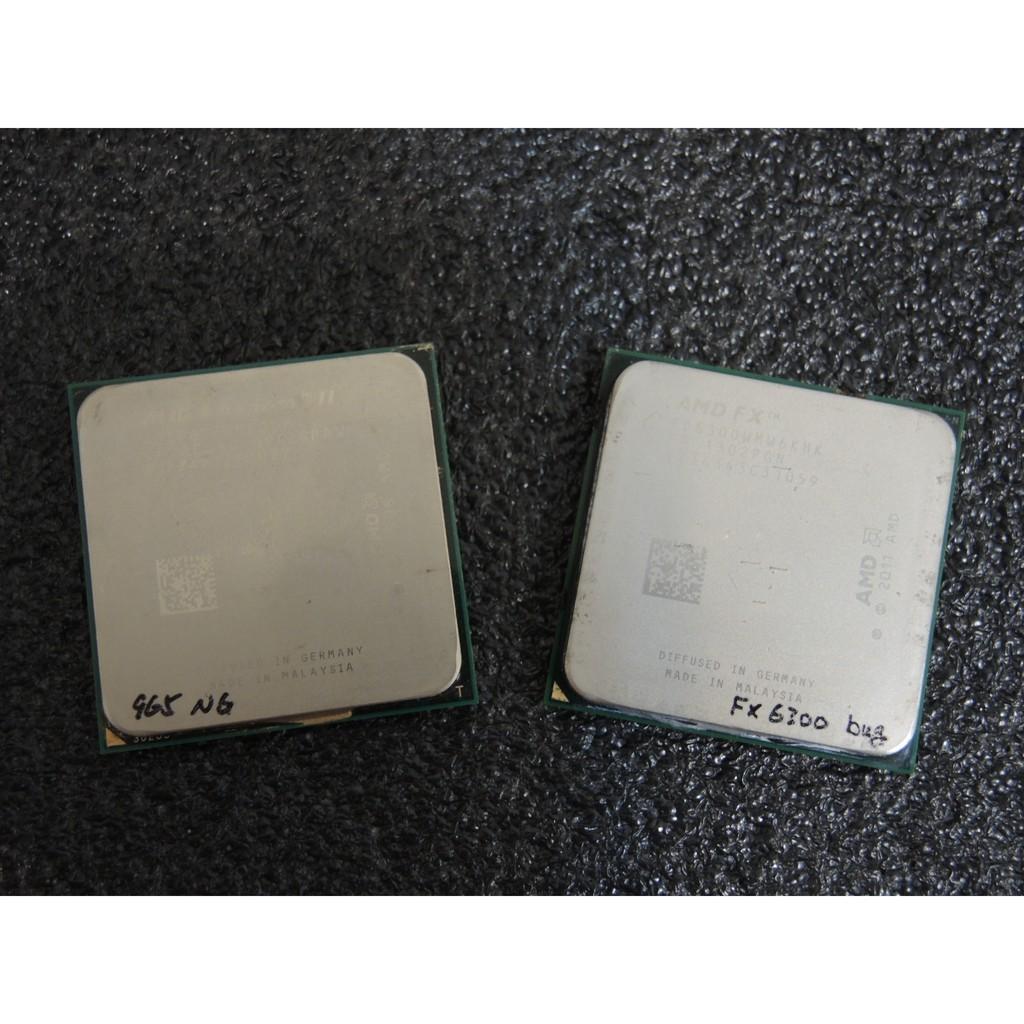 AMD 四核心 Phenom II X4 965  六核心 FX6300 不支援雙通道 瑕疵CPU